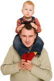 Father holding his son Stock Photography