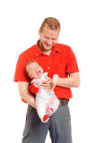 Father holding his son in hands Stock Photos