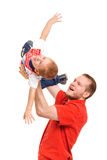 Father holding his son in hands Royalty Free Stock Photos