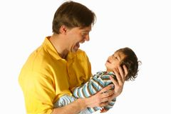 Father holding his toddler son Stock Image