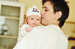 Father with newborn Stock Photos