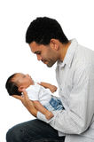 Father Holding Son Royalty Free Stock Photography