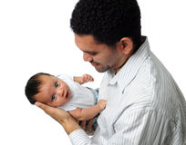 Father Holding Son Stock Images