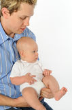 Father Holding Toddler Stock Image