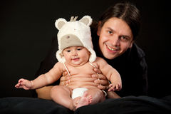 Father holds baby Royalty Free Stock Images