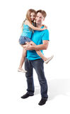 Father holds daughter on his hands Royalty Free Stock Images