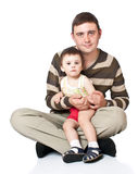 Father holds son on hands Royalty Free Stock Photos