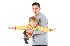Father holds son on hands Royalty Free Stock Image