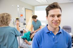 Father at Hospital During Child Birth Royalty Free Stock Photos
