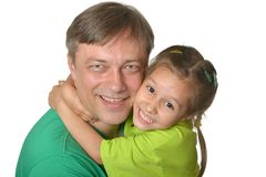 Father hugging his daughter Royalty Free Stock Images