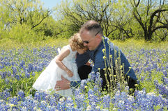 Father Hugs royalty free stock image