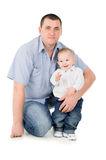 Father hugs little son Royalty Free Stock Photography