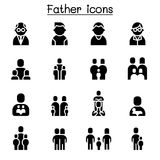 Father icon set. Vector illustration graphic design royalty free illustration