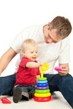 Father and infant Royalty Free Stock Photos