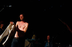 Father John Misty band performs at Music Hall Stock Photo