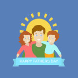 Father with kid in Father's Day background Royalty Free Stock Images