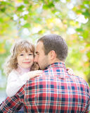 Father and kid Stock Images