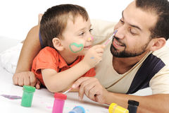 Father and kid playing Royalty Free Stock Image