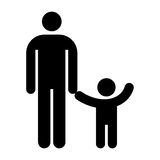 Father and kid symbol Royalty Free Stock Image