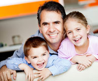 Father with kids Stock Image