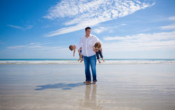 Father and kids Stock Photos