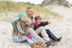 Father and kids enjoying a day out Stock Photo
