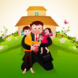 Father with kids for Father's Day celebration. Stock Photography