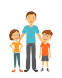 Father with kids. Happy family. Father with children Royalty Free Stock Photo