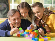 Father with kids play royalty free stock photo
