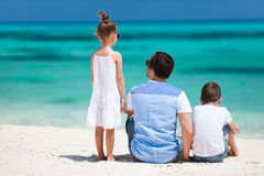 Father and kids on summer vacation Royalty Free Stock Photos