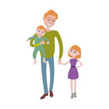 Father and kids together character vector. Stock Photo
