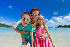 Father and kids royalty free stock photo