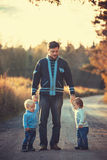 Father with kids Royalty Free Stock Photography
