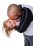 Father Kissing Daughter Royalty Free Stock Image