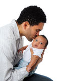 Father Kissing And Holding His Son Royalty Free Stock Photos