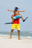 Father lifting son Royalty Free Stock Image