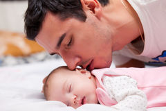 Father and little baby Stock Image