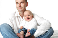 Father and little baby boy. Stock Image