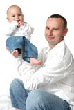 Father and little baby boy. Stock Images