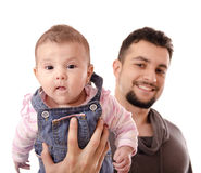 Father and little baby Stock Photography