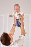 Father and little baby. Stock Images