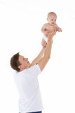 Father and little baby. Royalty Free Stock Photo