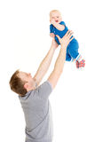 Father and little baby. Royalty Free Stock Photography