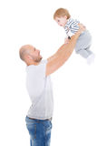 Father and little baby. Stock Photos