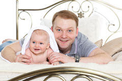 Father and little baby. Stock Photo