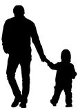 Father and little child Stock Images