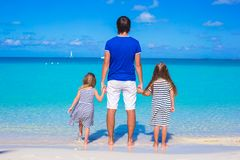 Father and little cute girls during tropical Stock Photography