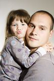 Father and little daughter Royalty Free Stock Photo