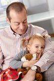 Father and little daughter Royalty Free Stock Photos