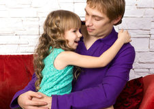 Father and little daughter Stock Photos